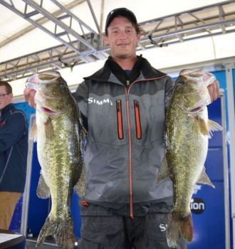 Bass pro Brandon Cobb can't wait to fish Lake Greenwood in February because of the big, prespawn females the lake spits out regularly.