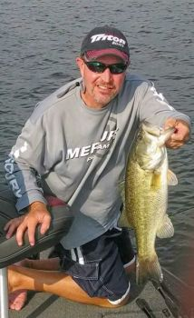 Electroshocking surveys show that Falls of Neuse Lake is loaded with healthy bass like this one caught by Todd Massey of Chapel Hill.