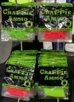 The Crappie Ammo BBs are loaded with the scent.