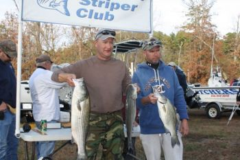 Plenty of stripers can be caught at High Rock this time of year, and very few of them are small fish.