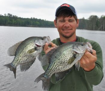 Lake Murray guide Brad Taylor said this winter's crappie fishing has been a lot like spring.