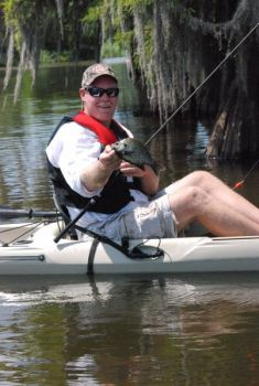 Various bream species make for great spring action for paddling anglers on small ponds.
