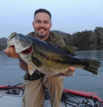 Fred Stepp caught this big spotted bass on Lake Summit in western North Carolina during the last week of March.