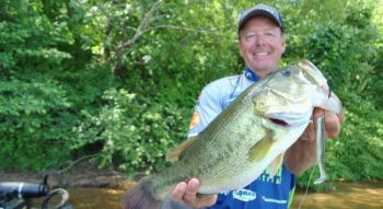This largemouth bass spawn may be over by May across most of the Carolinas, but there are plenty of bass still in relatively shallow water, and hungry.