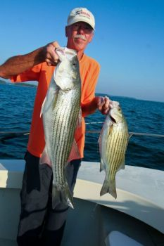 For a mixture of big stripers and hybrids, Dudley will work clay points north of Hickory Knob State Park.