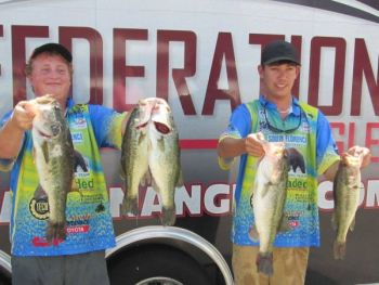 Tommy Floyd and James Gibbons of South Florence High School won the South Carolina TBF High School Fishing State Championship last weekend.