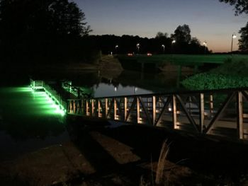 Anderson County's Brown Pond Boat Ramp has been upgraded with 16 LED Hyrdro Glow fish attractant lights.
