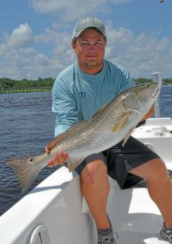 The peak of spring red drum fishing is June along the central North Carolina coast.