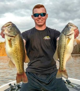 Chris Phinney spends much of his time on the water in June fishing channel drops in Falls of Neuse Lake.
