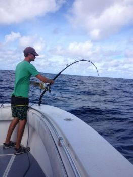 There's nothing but brute force to deal with when a broadbill swordfish gulps your bait and sets sail.