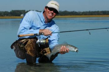 Stu Caulder hits the banks on high water for trout, then retreats to deeper water as the water falls.