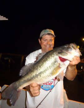 Carolina fishermen know in summertime, the best bet is bass after dark.