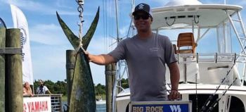 Jess Powell's 69.1-pound dolphin took the lead in the Winner Take All dolphin division on Day 2 of the 2017 Big Rock Blue Marlin Tournament.