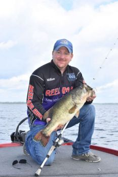 William Flournoy caught this 8 ½-pound bass on one of his Uncle Lonnie Stanley's new Stanley Standup Football Jigs at Lake Sam Rayburn.