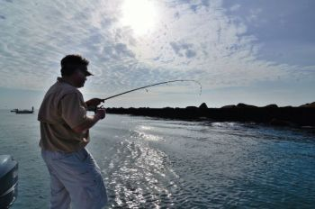 Rock jetties harness the current coming through an inlet on an incoming tide and often create great places to target gamefish in spots they're set up to ambush bait.