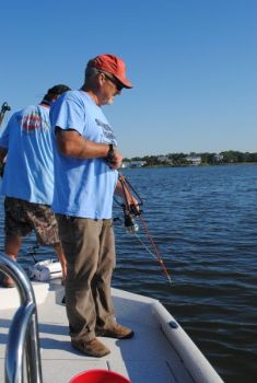 Tony Reaves took a number of stingrays with a slingbow in late June in the waters around Swansboro.