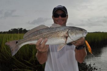 Topwater baits can be deadly on redfish or speckled trout, according to Rennie Clark, especially if you equip your bait with especially sharp hooks.