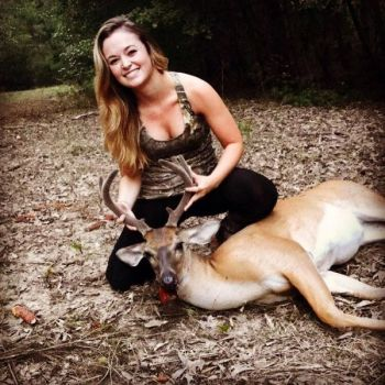Madison Squires had a successful opening day of 2017, killing her first velvet buck during an evening hunt in Orangeburg County.