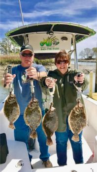Murrells Inlet flounder fishing really turns on in September when estuary waters cool and good numbers of fish return.
