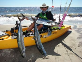 Hordes of kayak fishermen now descend on the nearshore waters to do battle with kings and bull reds.