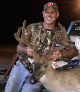 Bradley Hughes just wanted some doe meat for the freezer, but he couldn't pass up the opportunity when this 10-point in velvet offered him a shot.