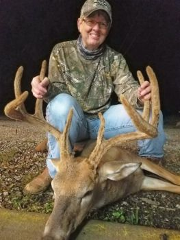 Janet Jones stuck this Pope & Young buck on Sept. 9 in Stokes County. The 10-point has been green-scored in the 140s.