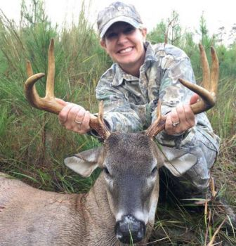 Marti Schutte has learned a lot from her husband about deer hunting, and finally killed this trophy buck on Oct. 7.