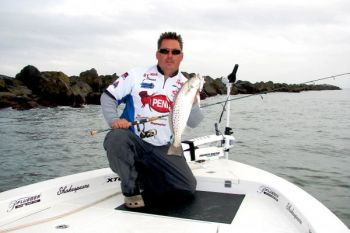 Guide Jot Owens likes to drift live baits under corks around the Masonboro Inlet jetties, and he's often rewarded with a big speckled trout.