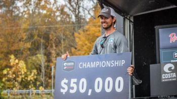 Bradford Beavers of Ridgeland, SC secured his biggest win at the 2017 Costa FLW Series Championship.