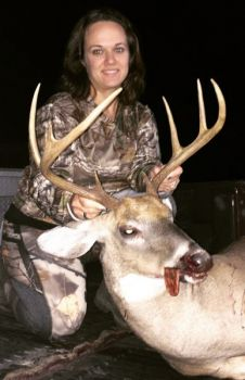 Laura Tucker of Manson, N.C. won the CarolinaSportsman.com October Bag-A-Buck contest with a nice 8-point buck she killed in a spot that has special meaning for her.