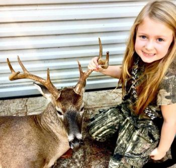 Chloe Phillips killed her first buck, this 9-pointer, after learning everything about hunting from her dad, Zach Phillips of Easley, S.C.