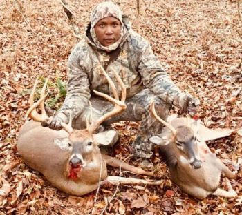 Richard Windon killed both of these bucks within 30 minutes of each other during opening day of rifle season in Granville County, N.C. These are the first two deer he has ever killed.