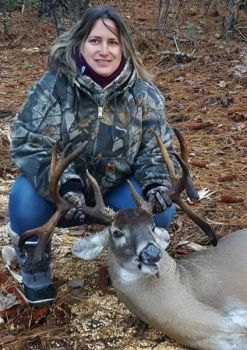 This big buck surprised Julie Cook during a hunt in St. Matthews. The 14-point trophy had never been spotted on her trail cameras and was bigger than anything she'd ever seen while hunting.