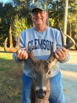 Gerald Foster of Seneca killed this big 8-point buck at Botany Bay WMA near Edisto Island.