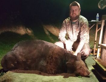 Matthew Chapman killed this big bear in Burke County on Nov. 9 during an evening hunt.