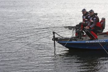 Spider-rigging with multiple rods allows anglers to cover plenty of depths and lots of water.