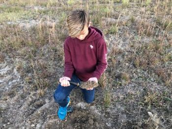 Take a handful of soil samples from each of your food plots for examination by county agriculture extension agents to get a grip on fertilizer requirements for future plantings.