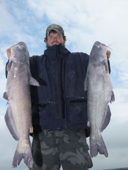 January means big blue catfish on South Carolina's Lake Monticello.