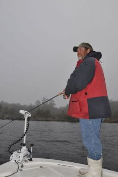 Weather conditions in February can vary to extremes during a single fishing trip, so dress accordingly and carry the correct clothing.