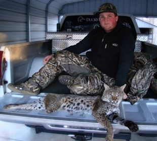Logan Foster was hunting waterfowl last month when he was charged by this bobcat, which Foster killed with a close-range shot.