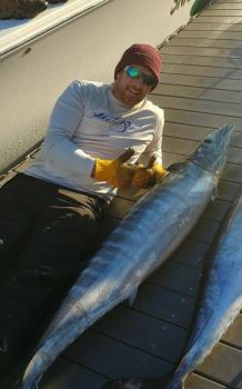 Big wahoo are a common bluewater catch late in the winter and early in the spring in bluewater areas of South Carolina's northern coastline.