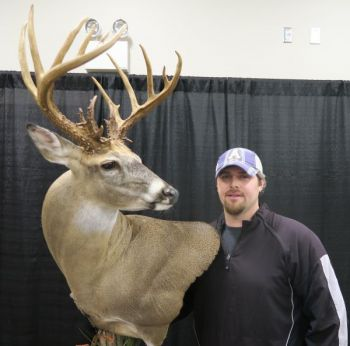 Patrick Williams took top honors for Best Bow Non-typical at the 2018 Dixie Deer Classic with this Rockingham County brute.