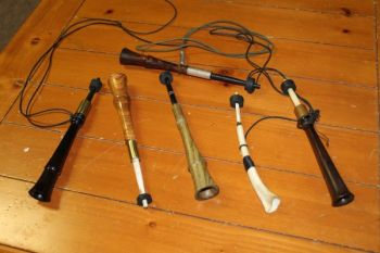 Trumpet calls are artificial wingbones, and they produce many of the same sounds as the original (second from right).