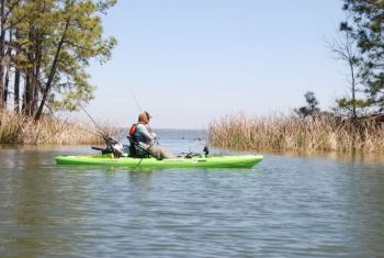 Some tremendous territory is available this month to bass fishermen in kayaks, like Lake Moultrie's Hatchery area, which regularly produces trophy largemouth bass.
