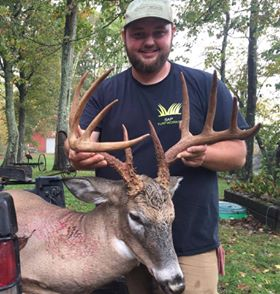Shane Poore killed this Avery County buck during last year's muzzleloader season. The NCWRC recently released the 2017-18 deer season's harvest numbers broken down by county and type of weapon used.