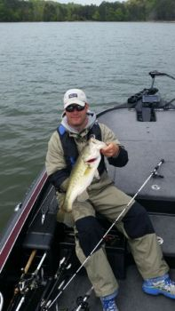 Bass pro Andy Wicker loves to fish Lake Monticello in April because so many bass will be shallow.