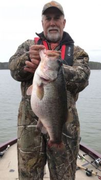 Steve Ford caught this big bass during a weekday tournament on Jordan Lake.