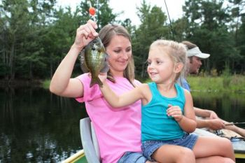 The Family Fishing Workshop is one of 11 hands-on courses offered in May 2018 at the NCWRC's Pechmann Fishing Education Center.