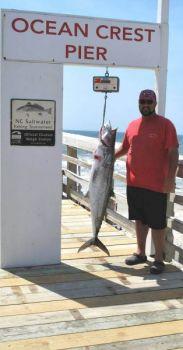 Peter Balderas caught this 44-pound, 7-ounce king mackerel off the Ocean Crest Pier on Oak Island, N.C.