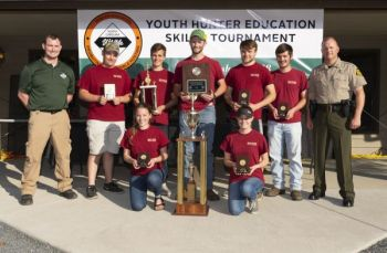Gray Stone Day School's Garnette team won the senior division of the 2018 Youth Hunter Education Skills Tournament held by the NCWRC on April 28, 2018.
